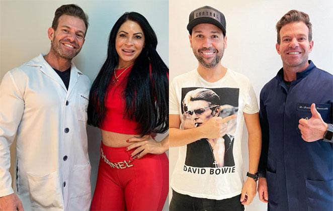Dr. Daniel Sene com Sylvia Design e Viny Vieira (Foto: Divulgação)
